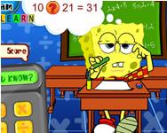 Sponge Bob math exam játékok ingyen