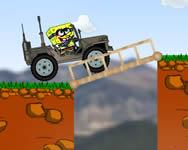 Spongebob dangerous jeep online játék