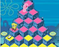 Spongebob pyramid peril online Spongyabob játék