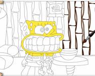 Spongyabob színező játékok 3 online játék