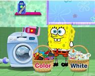 Spongebob and patrick star washing pants Spongyabob játékok